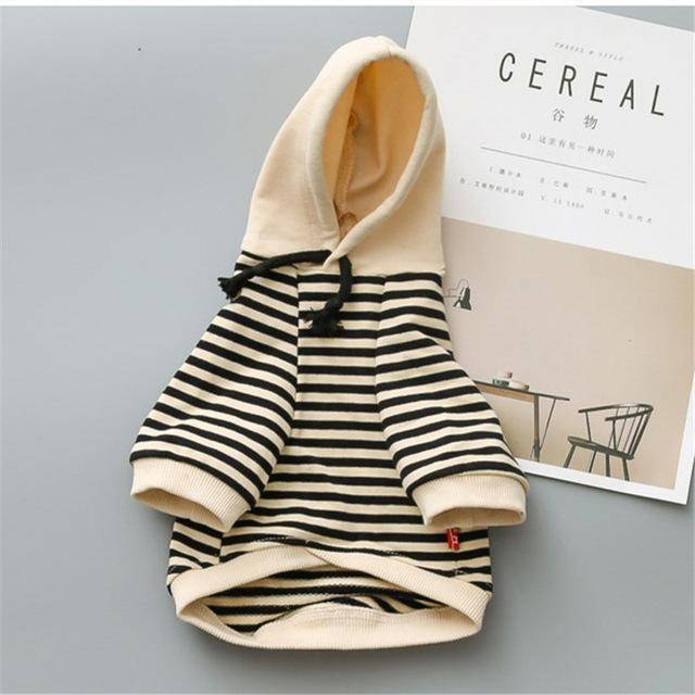 Frenchie Striped Hoodie Frenchie Jacket Custom Frenchie Store Black XS