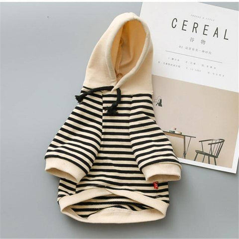 Image of Frenchie Striped Hoodie Frenchie Jacket Custom Frenchie Store Black XS