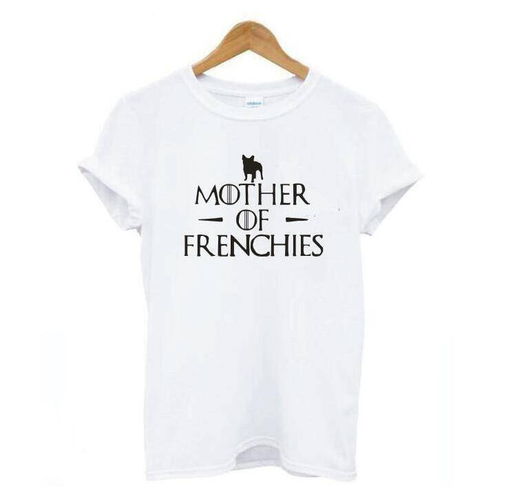 Mother of Frenchies T-Shirt T-Shirts Custom Frenchie Store White S
