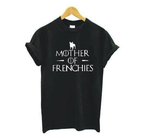 Mother of Frenchies T-Shirt T-Shirts Custom Frenchie Store Black S