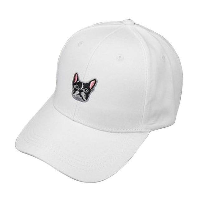 Frenchie Baseball Cap Hats Custom Frenchie Store White