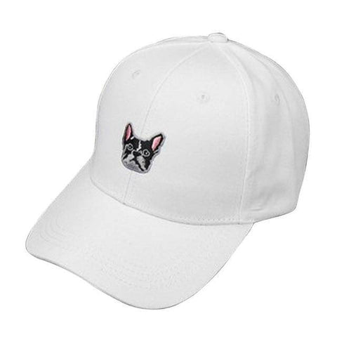 Image of Frenchie Baseball Cap Hats Custom Frenchie Store White