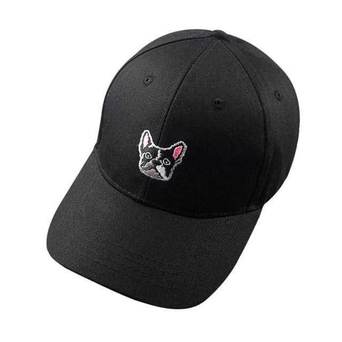 Frenchie Baseball Cap Hats Custom Frenchie Store Black