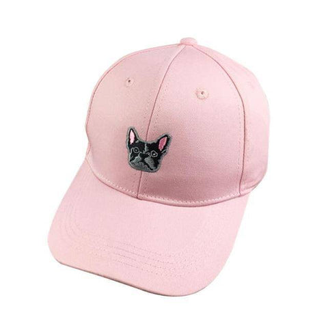 Image of Frenchie Baseball Cap Hats Custom Frenchie Store Pink
