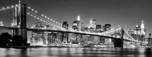 JP London MD4A044 4-Feet High by 10.5-Feet Wide Removable Manhattan Nights Contemporary Wall Mural