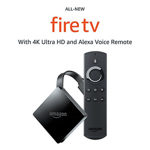 All-new Fire TV with 4K Ultra HD and Alexa Voice Remote (2017 Edition, Pendant) | Streaming Media Player