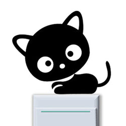 cat vinyl switch stickers decal switch sticker for kids wall stickers for kids rooms stickers muraux