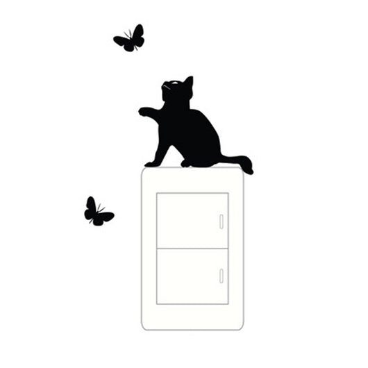 wall switch stickers cat vinyl switch stickers decal Wall Stickers for Kids Rooms stickers muraux