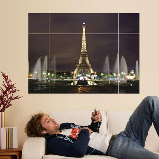 Super Deal  Eiffel Tower Living Room Wall Sticker Wall Art Decor Vinyl Decal Stickers XT