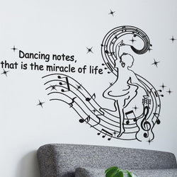 Dancing Musical Notes Wall Stickers Creative wall stickers home decor living room stickers muraux pegatinas de pared
