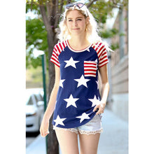 Women's American Flag Stars and Stripes T shirts