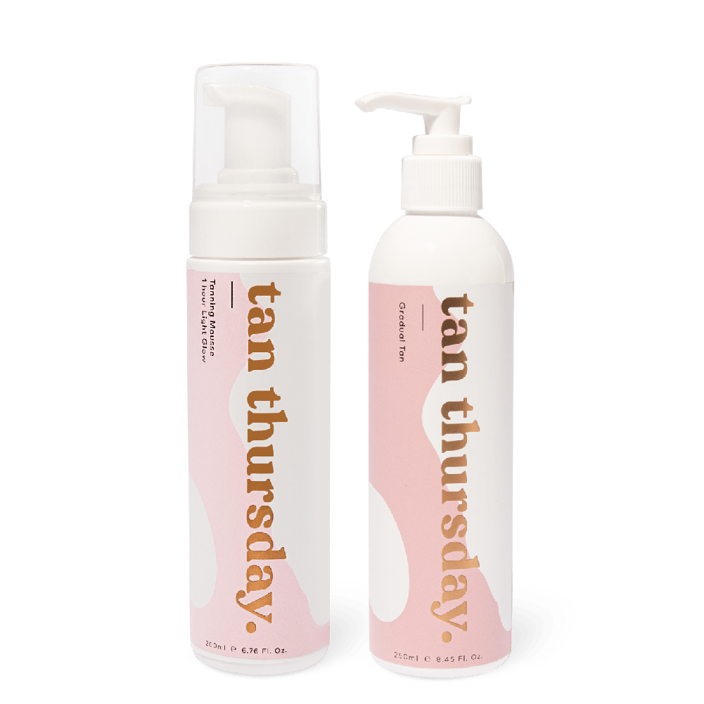1 Hour Light Glow Tanning Mousse + Gradual Tan - cos.u.r