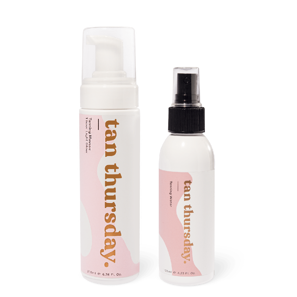 1 Hour Light Glow Tanning Mousse + Tanning Water - cos.u.r