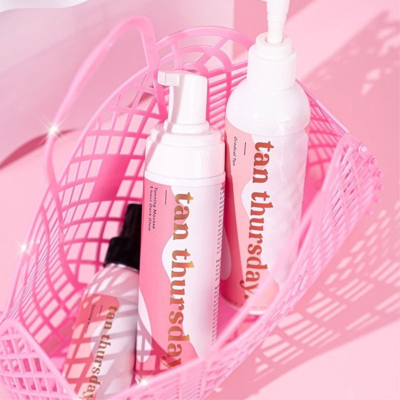 3 Hour Dark Glow Tanning Mousse + Tanning Water + Gradual Tan - Tan Thursday