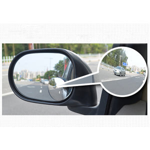 "Blind Spot Mirror, 2"" Round HD Glass Frameless Convex Rear View Mirror, Pack of 2"