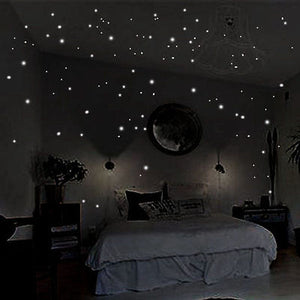 Glow In The Dark Starry Night Wall Stickers - 407 Adhesive Dots