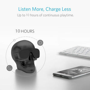 8W Rechargeable Skull Bluetooth Speaker