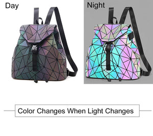 Luminous Holographic Reflective Star Backpack