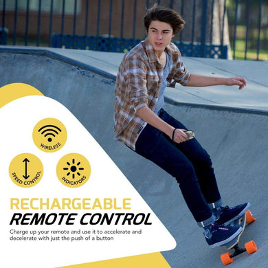 Electric Motorized Electric Skateboard with Wireless LED Remote