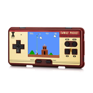 8-Bit Famicom Style Pocket Handheld Game Console with 638 Games
