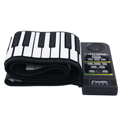 Roll Up Piano Portable 88 Key Electronic Music Keyboard with Built-In Speaker
