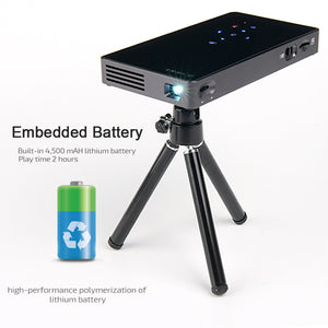 AUN D5S DLP Mobile Projector with WIFI / Bluetooth Support