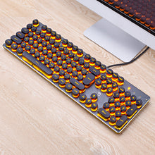 Retro Style Wired 104 Keys LED Backlit Gaming Keyboard