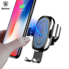 Baseus Car Mount Qi Wireless Quick Charger For iPhone Android Phones