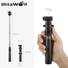 Blitzwolf 3 in 1 Wireless Bluetooth Selfie Stick with Remote Control for Smartphones