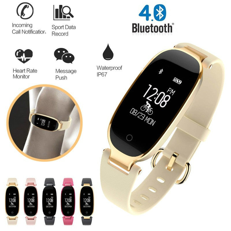 Smart Wristband with Heart Rate Monitor & Fitness Tracking For Apple & Android Phones