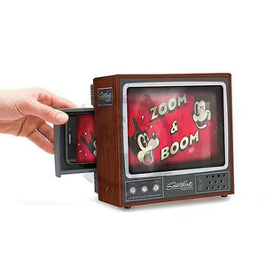 DIY Cardboard Retro Television Set - Mobile Phone Projector