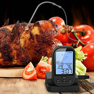 Wireless Remote Kitchen Oven Food Cooking Thermometer Gauge