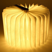 Wooden USB Charging Unfolding Book Light
