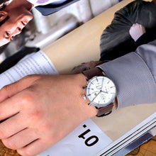 Business Letter Chronograph Quartz Watch for Men