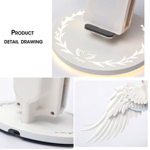 Wireless Angel Wings Charger for iPhone, Airpods & Android Phones