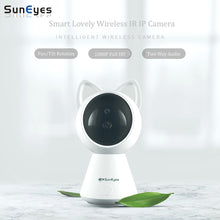 SunEyes Cute Cat Survelliance Camera with 1080P Video & Smart Pan/Tilt