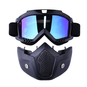 Motorcycle / Ski Goggles with Mask