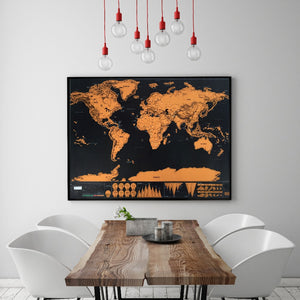 32 x 23 inches Scratch Off World Map Poster - Premium Wall Art Gift