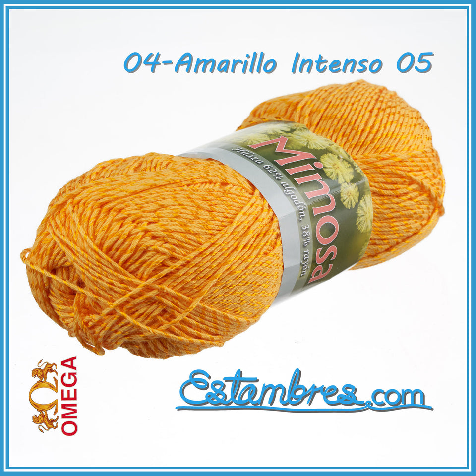 Mimosa [100grs] - Omega | 100% Mercerized Cotton Thread | Brilliant Thread for Crafts