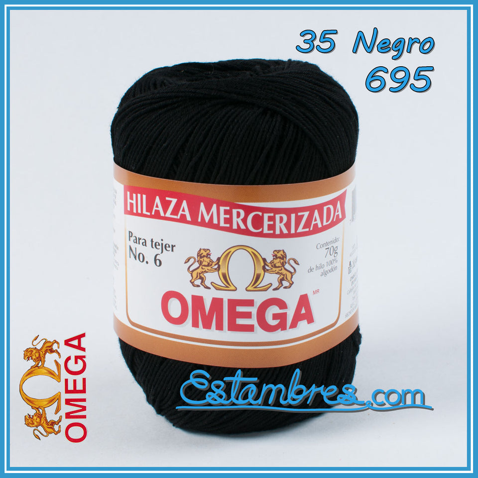 Omega No.6 [70grs] - Soft Yarn 100% Mercerized Cotton Yarn | Omega Crochet Thread