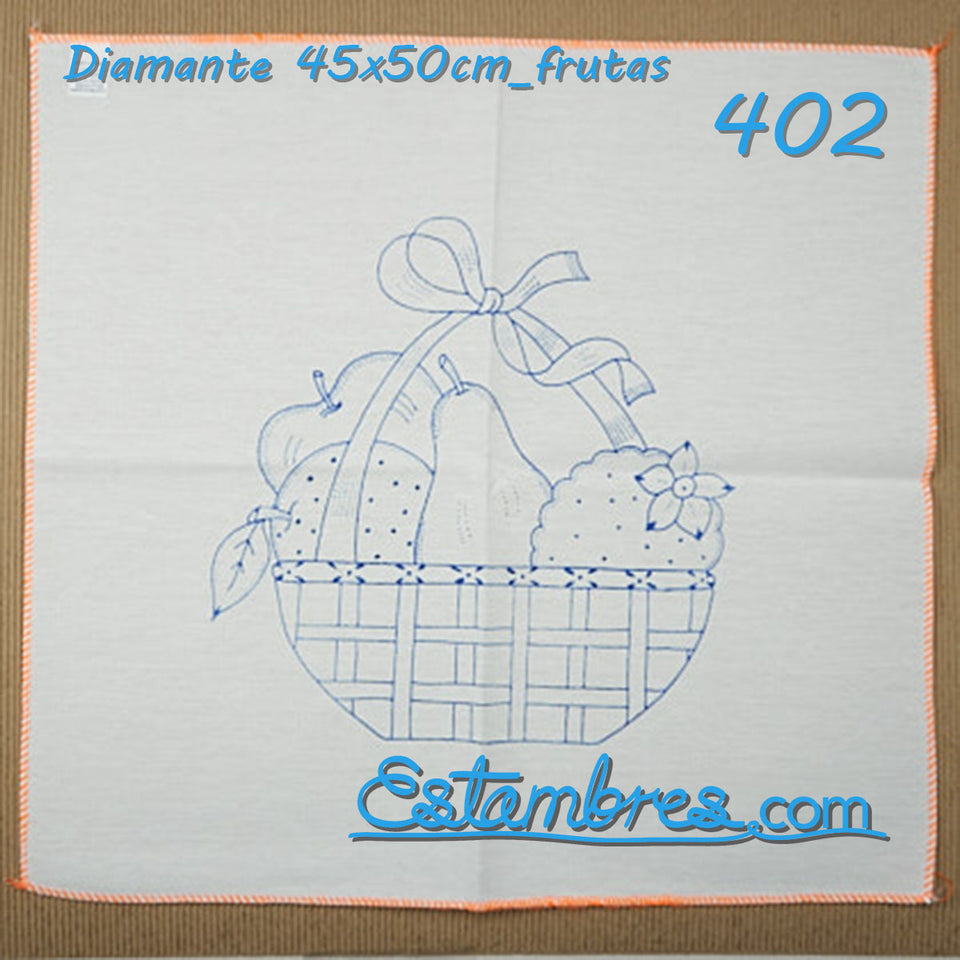Diamante 45x50cm FRUTAS para Bordar | Graficos para Bordar en Diamante | Servilleta