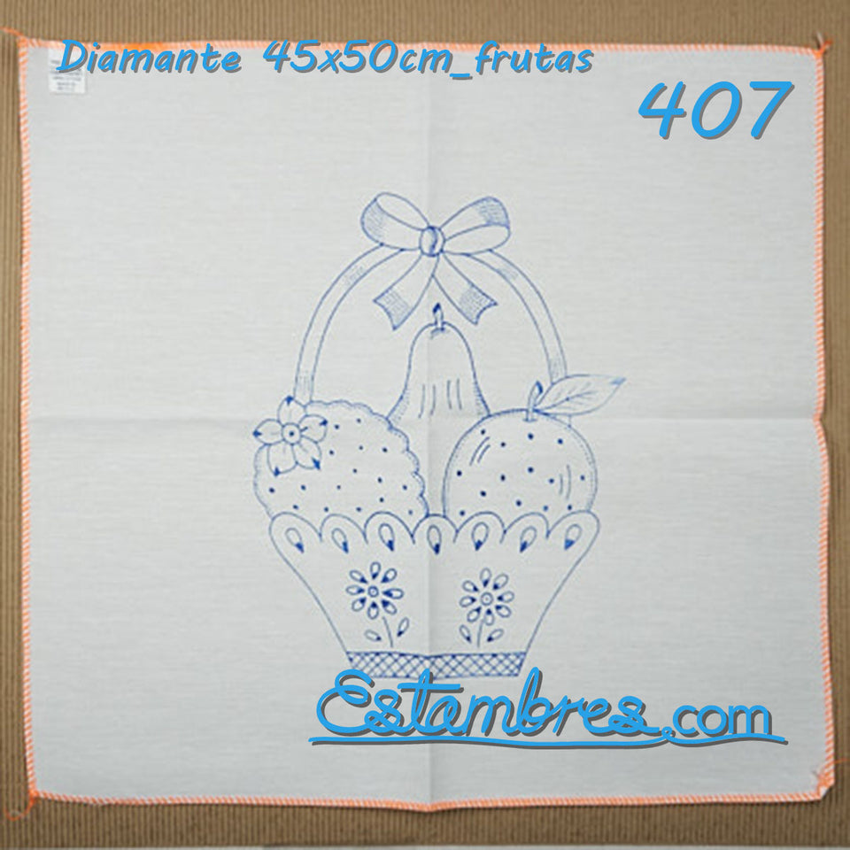 Frutas - Diamante 45x50cm para Bordar | Graficos para Bordar en Diamante | Servilleta