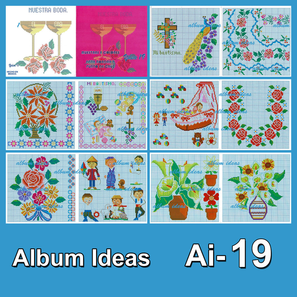 Ideas Acordeon Book [01-40] - Embroidery Pattern | Crewel Stitch Embroidery | Creative Needlecraft Schemes