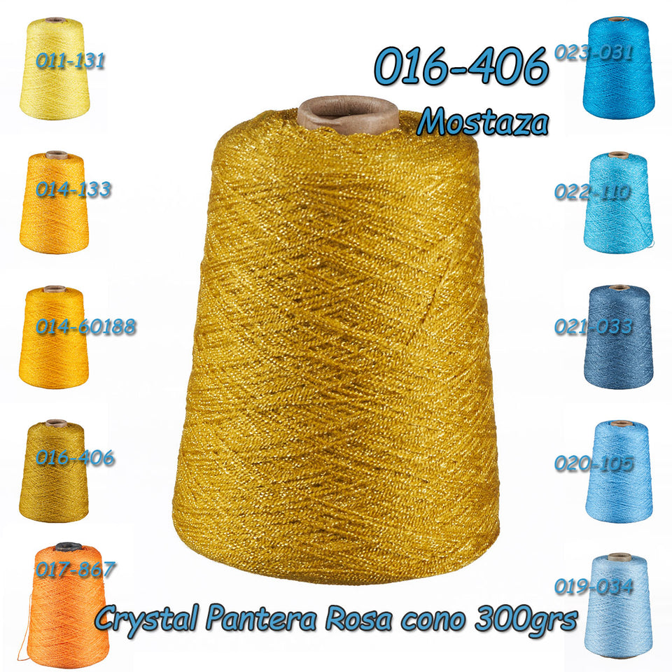 Crystal [300grs] 1/2 - La Pantera Rosa | Crochet Thread Yarn | Mexican Crystal Yarn for Clothing and Crafts