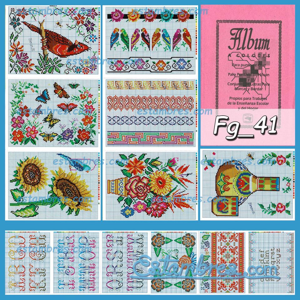 Farias Acordeon Book [29-52] - 2 of 2 - Embroidery Pattern | Crewel Stitch Embroidery | Creative Needlecraft Schemes