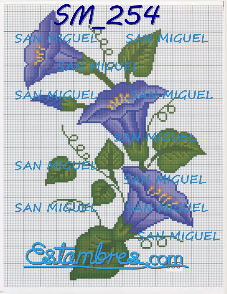 San Miguel [SM250-314] - 1 of 7 - Embroidery Pattern | Crewel Stitch Embroidery | Creative Needlecraft Schemes