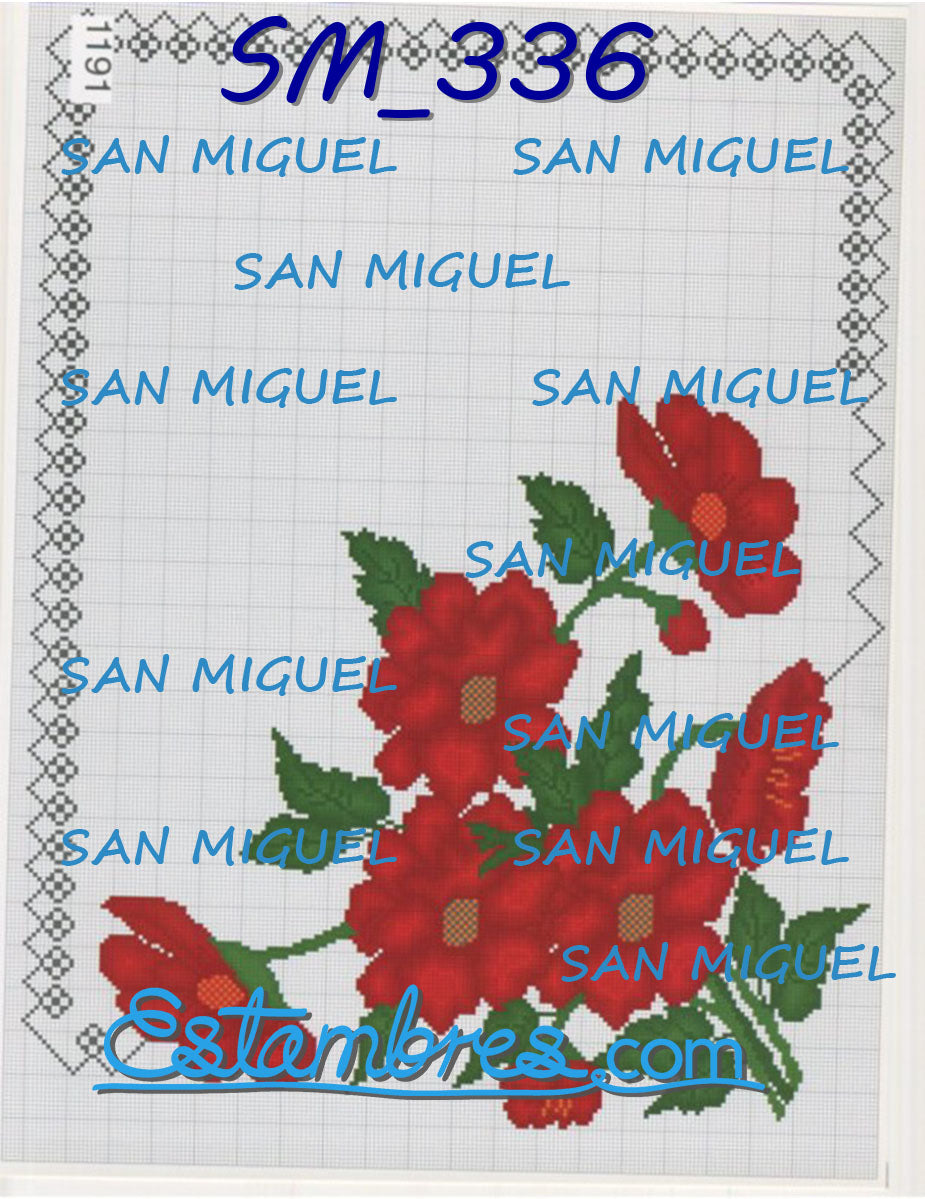 San Miguel [SM315-636] - 2 of 7 - Embroidery Pattern | Crewel Stitch Embroidery | Creative Needlecraft Schemes