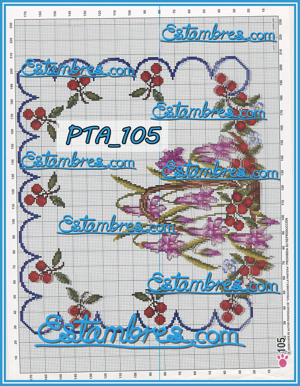 Patita Rosa [PTA069-137] - 2 of 3 - Embroidery Pattern | Crewel Stitch Embroidery | Creative Needlecraft Schemes