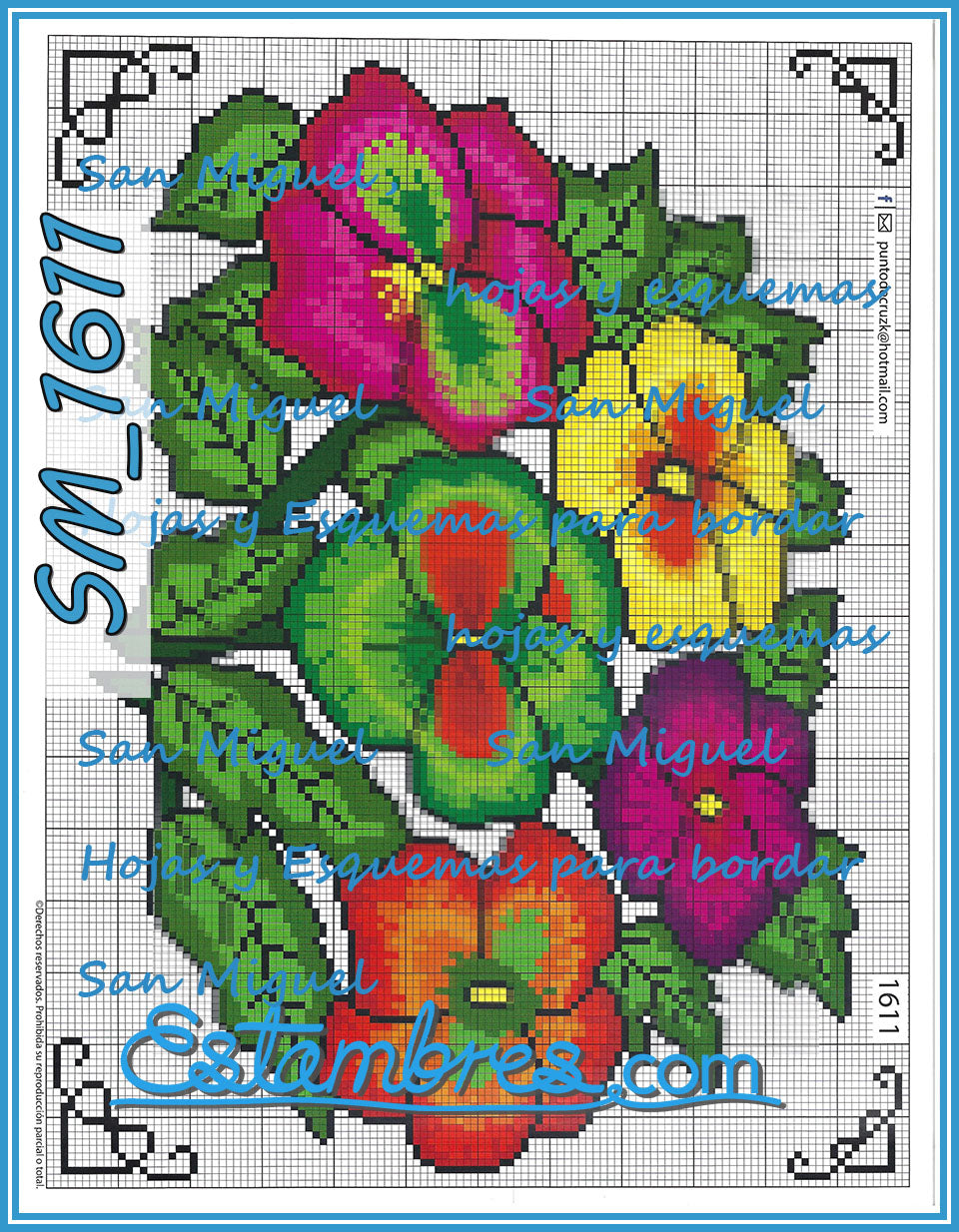 San Miguel 1600 Series - 1 of 2 - Embroidery Pattern | Crewel Stitch Embroidery | Creative Needlecraft Schemes