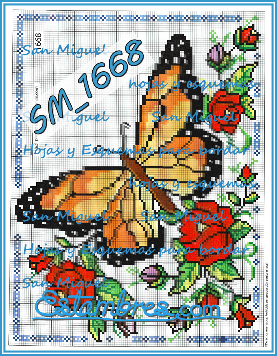 San Miguel 1600 Series - 2 of 2 - Embroidery Pattern | Crewel Stitch Embroidery | Creative Needlecraft Schemes